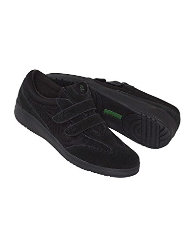 Grasshoppers Women's Stretch Plus Velcro Sneaker,Black,7.5 W (Grasshoppers Shoes compare prices)