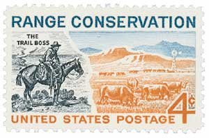 #1176 - 1961 4c Range Conservation U. S. Postage Stamp Plate Block (4)