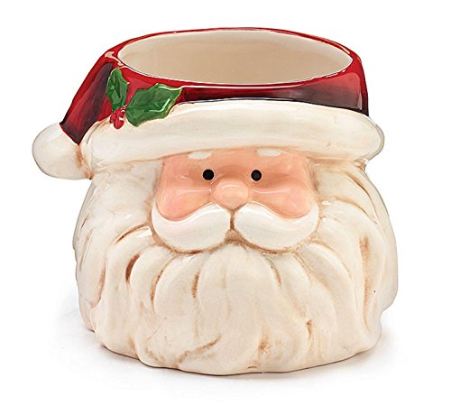 Santa Shaped Full Face Ceramic Planter (Ceramic Santa Head compare prices)
