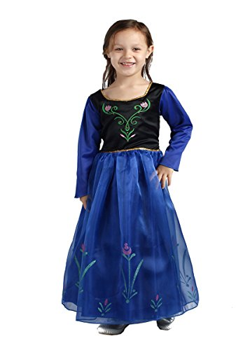 HYS Fashion Snow Queen Anna Costume Halloween Dress Special Version