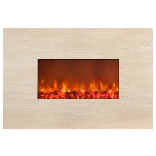 Yosemite Home Decor DF-EFP800 Wall Mount Stone Electric Fireplace, Polished Beige picture B005C3I7NC.jpg