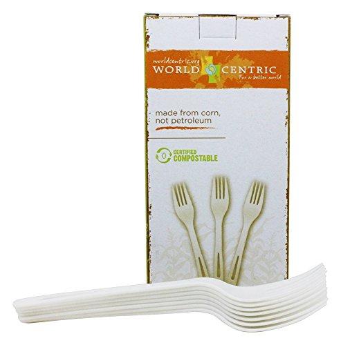 World Centric Corn Starch Forks, 24-Piece (Corn Cutlery compare prices)