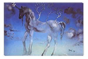 Salvador Dali Unicorn Canvas Wall Art, 5 Stars Gift Startonight 23.62 X 35.43 Inch
