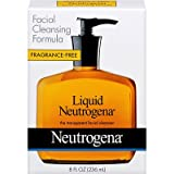Neutrogena Liquid Facial Cleansing Formula, 8-Ounce Pump Fragrance Free (Pack of 4)