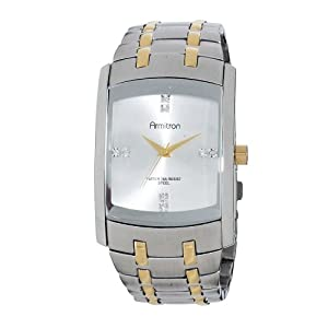 Armitron Men's 20/4507SVTT Swarovski Crystal Two-Tone Dress Bracelet Watch