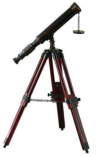 Brass Wood Telescope A Unique Nautical Decor By Benzara