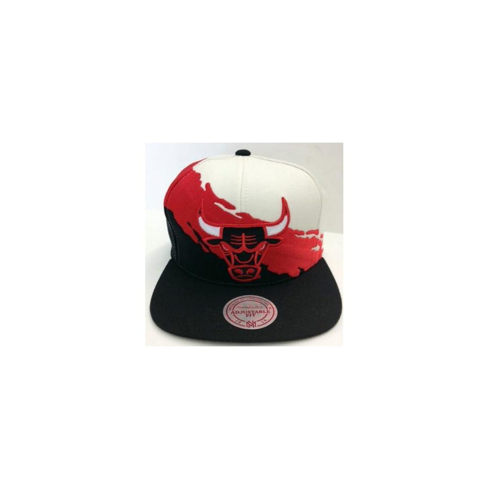 Chicago Bulls Mitchell   Ness Paint Splash Snapback Cap Hat JORDAN PIPPEN  KERR 006f644f1d1