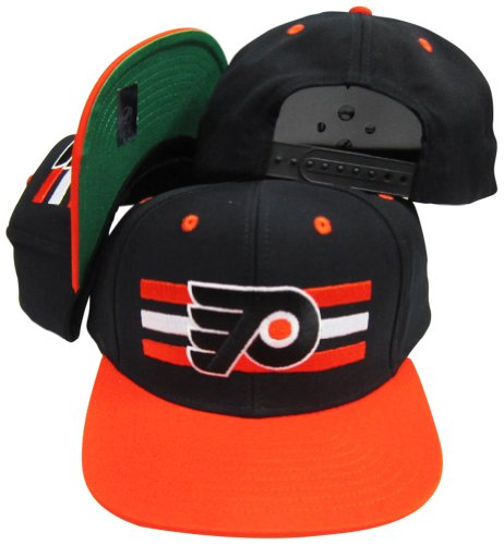 Philadelphia Flyers Black Orange Two Tone Snapback Adjustable Plastic Snap  Back Hat   Cap c22a12db28b3