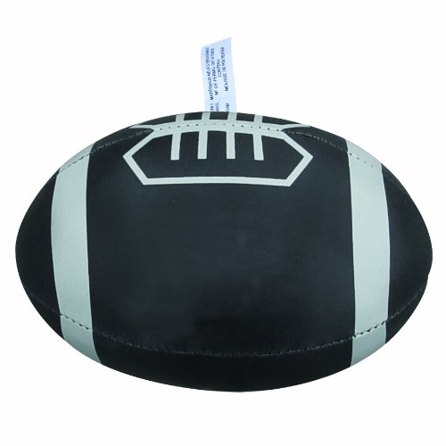 Bags for LessTM Mini Soft Foam Football Black with Grey Laces