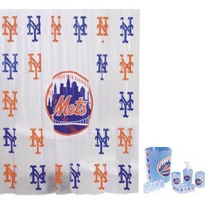 New York Mets Combo 7 Piece Frosty Bathroom Set & 3 Piece Bath Rug Set at Amazon.com