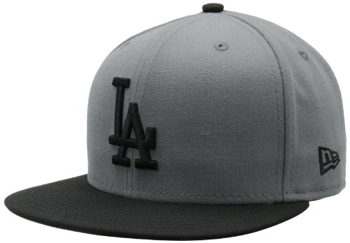 Mlb Los Angeles Dodgers Mlb Basic Stm/Gry 59Fifty, Storm Gray/Black, 7 1/2