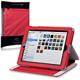 Apple iPad Techstyle PU Leather Folio Case With Stand (iPad 2 / 3 / 4 Retina) - Red by Terrapin