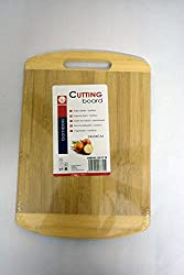 AADYA Eco-friendly Premium Natural Bamboo / Wooden Kitchen Chopping Cutting Board with Handle Cutlery Accessories -Size Small (24 x 34 cm)