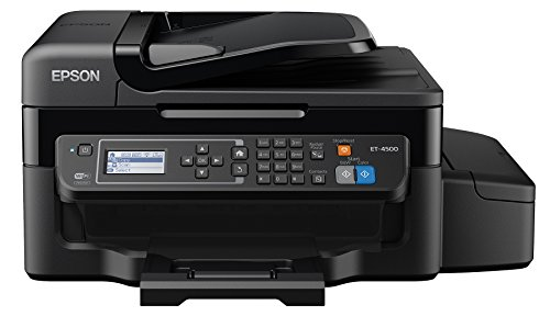 Epson WorkForce ET-4500 EcoTank Wireless Color All-in-One Supertank Printer with Scanner, Copier, Fax, Ethernet, Wi-Fi, Wi-Fi Direct, Tablet and Smartphone (iPad, iPhone, Android) Printing, Easily Refillable Ink Tanks (Printer Wireless Direct compare prices)