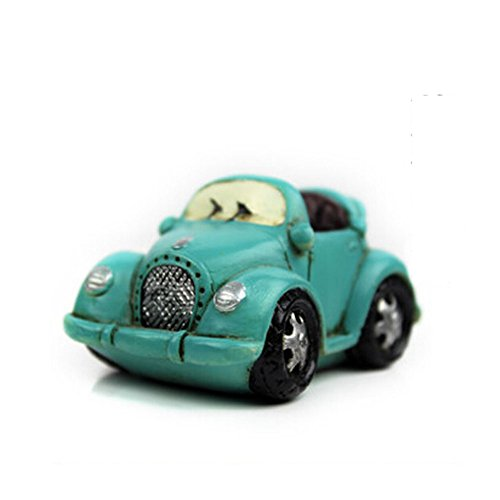 Creative Gifts Resinous Small Ornaments Vintage Car Model(Blue 6.5cm)