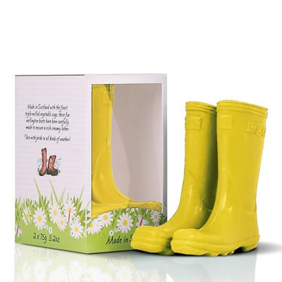 Scottish Fine Soaps Novelty Soaps Welly Boots - Yellow