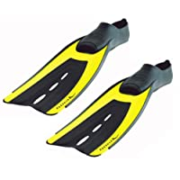 New AERIS Velocity Full Foot Scuba Diving & Snorkeling Fins - Yellow (Size 5-6/Small)