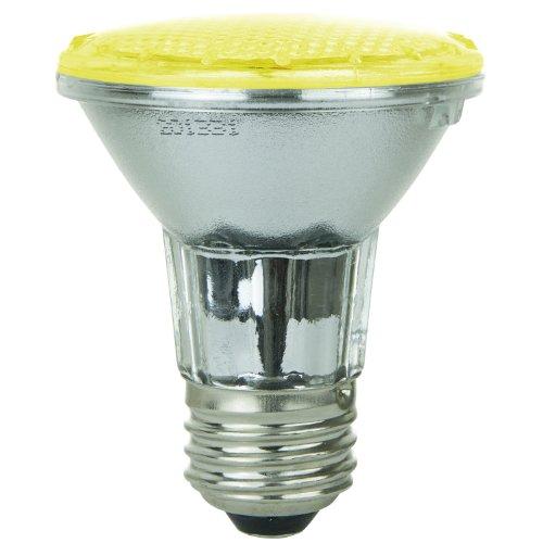 Sunlite 80005-Su Par20/36Led/2W/Y Led 120-Volt 2-Watt Medium Based Par20 Lamp, Yellow