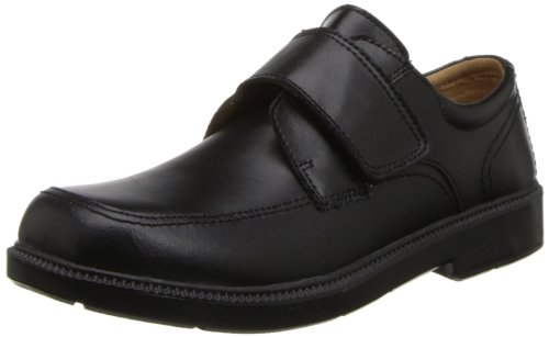 Florsheim Kids Berwyn JR Uniform Oxford Shoe (Toddler/Little Kid/Big Kid),Black,4 W US Big Kid