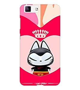 EPICCASE Royal kitty Mobile Back Case Cover For Vivo X5 (Designer Case)