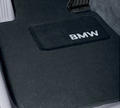 """Bmw Genuine Black Floor Mats For E90 - 3 Series All Models Sedan (2004 - 2008), Set Of Four"""