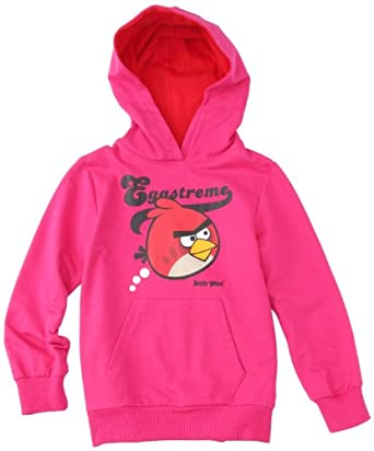Angry Birds - sweat-shirt à capuche - fille - rose foncé (fuxia/red) - 10 ans