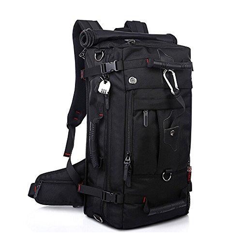 KAKA アウトドア 登山用バッグ 40L オックスフォード ブラック KAKA-2070 -