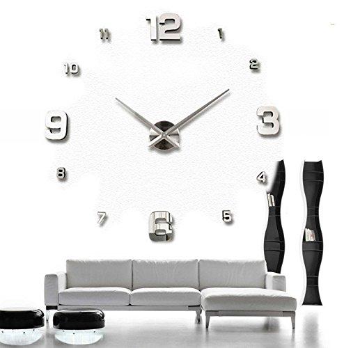 huijun-3d-oversize-creative-diy-living-room-wall-clock-modern-art-wall-clock-personalized-silver