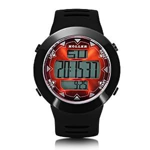 Holler Herren-Armbanduhr Holler Inferno Red Digital plastik schwarz HLW2191-4