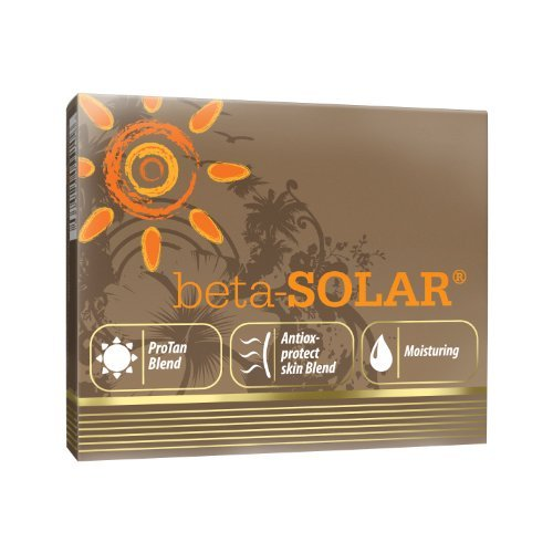 BETA-SOLAR 60 capsules - Beta Carotene Vitamin E Zinc Green Tea extract - Beautiful Sun Tan Accelerator Sunless Tanning Skin Beauty Supplement - Anti Ageing Skin Protection Treatment by Olimp Labs