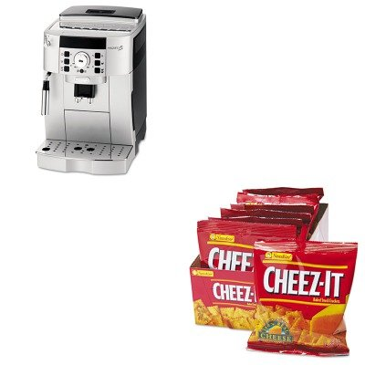 KITDLOECAM22110SBKEB12233 - Value Kit - Delonghi Super Automatic Espresso and Cappuccino Maker (DLOECAM22110SB) and Kellogg's Cheez-It Crackers (KEB12233)