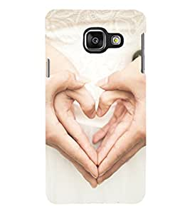 PRINTSHOPPII HEART SIGN Back Case Cover for Samsung Galaxy A7 (2016) Duos