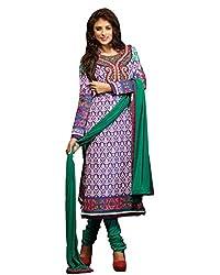 Admyrin Women Purple Cambric Cotton Dress Material