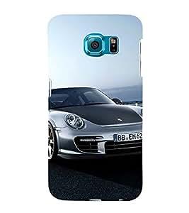 BLACK AND GREY SPEEDING SPORTS CAR 3D Hard Polycarbonate Designer Back Case Cover for Samsung Galaxy S6 :: Samsung Galaxy S6 G920