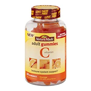 Nature Made Adult Gummies Vitamin C , 80 CT (Pack of 3)