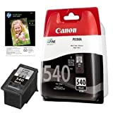 Genuine Canon Black Printer Ink Cartridge for Canon Pixma MG3150 &amp; 10x FREE HP Advanced Glossy Photo Paper