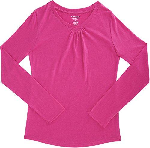 ef6de5d74b7 French Toast School Uniform Girls Long Sleeve V-Neck T-Shirt - Import It All