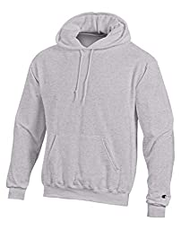 Champion EcoTM Fleece Pullover Men\'s Hoodie, XL-Gray Oxford Heather