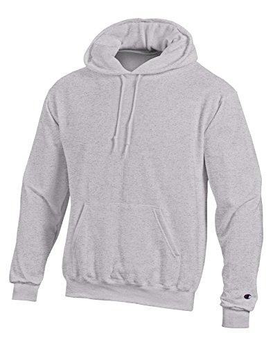 Champion EcoTM Fleece Pullover Men's Hoodie, XL-Gray Oxford Heather