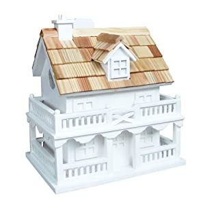 Home Bazaar Colonial Cottage Birdhouse, White