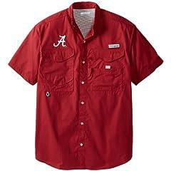 NCAA Columbia Alabama Crimson Tide Crimson Bonehead Short Sleeve Shirt by Columbia