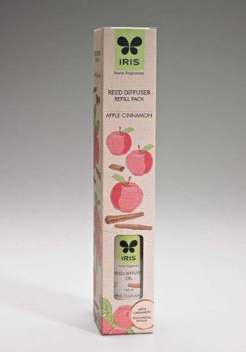 Iris Reed Diffuser Refill Pack Apple Cinnamon Fragrance