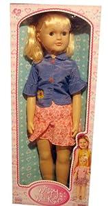 """Wispy Walker 27"""" Walking Doll Classic Recreation of 1960's Girls Best Friend Doll Blonde Hair"""