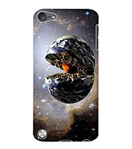 ColourCraft Creative Galaxy Image Design Back Case Cover for APPLE IPOD TOUCH 5