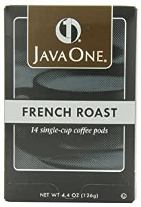 Java One French Roast Coffee, 14-Count Pods (Pack of 6)