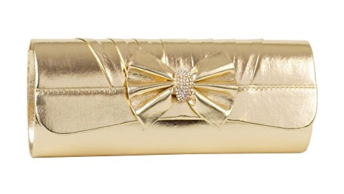 ladies-gold-clutch-bag-with-pleated-bow-and-band-with-small-diamante-trim