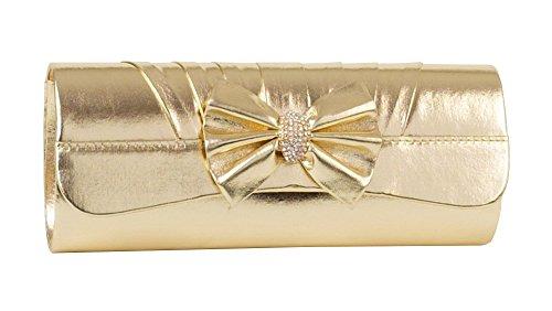 mesdames-or-sac-dembrayage-plisse-avec-noeud-et-bande-avec-petit-strass-or-dore-taille-unique
