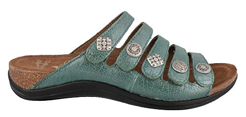 Dansko Women'S Janie Dress Sandal,Turquoise Crackle,40 Eu/9.5-10 M Us front-911236