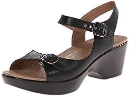 Dansko Women\'s Joanie Dress Sandal, Black Full Grain, 40 EU/9.5-10 M US