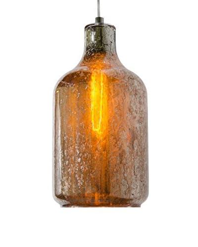 Varaluz Brooklyn 1-Light Pendant, Polished Chrome/Mercury Glass